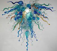 Lampade luci personalizzate multi colore lampadari a mano in vetro soffiato a mano cristallo piccolo oceano foschia lampadario a led sorgente luminosa