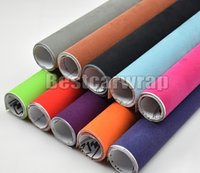 Black Velvet suede Vinyl Wrap Decal Sticker Film For car interior exterior roof covering stickers With Air Bubble Free Size:1.35x15m/roll