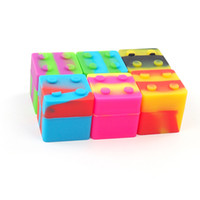 Best selling rich color stackable silicone container for wax