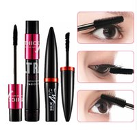 3sets / lot 4D Fibre De Soie Mascara Cils Volume Allongement Noir Cils Extension de Maquillage Encre Rimel Kit Mascara Imperméable À L'eau