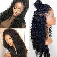 250% densidad Pelucas frontales de encaje 360 para mujeres negras Peluca brasileña rizada Pre plucked 360 Pelucas de cabello humano sin cola