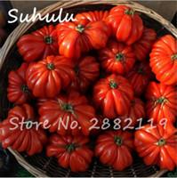 200 pcs de bœuf hybride, graines de tomates rouges rares, extra-charnues, graines de tomates extra-savoureuses bio, fruits et légumes sucrés bonsaï