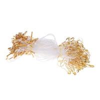 4inches 1000pcs nylon accrochent la chaîne d'étiquette de vêtement, corde d'étiquette de lanière d'habillement avec la goupille de sûreté en forme de poire
