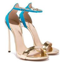 أزياء صندل عالية الكعب أحذية نسائية لونين للاختيار من بينها كعب معدني