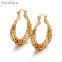 MGFam (349E) Elegant Women' s Circle Earring 3 Hoops 18k...