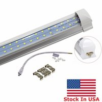 T8 통합 이중 행 LED 튜브 4FT 28W 8FT 72W SMD2835 LED 조명 램프 전구 4 피트 8 피트 LED 조명 형광등