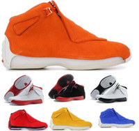 Top 18 18s Basketball Shoes Sneakers Mens Men Yellow Suede C...
