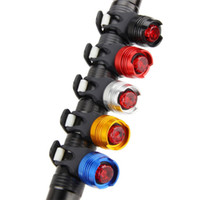 LED a prueba de agua de cola bicicleta de la bici parte posterior del frente casco rojo destello de luz de seguridad Luz de advertencia de seguridad de ciclo Precaución Luz