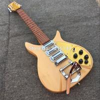 Produto de fábrica ricken-backer 325 guitarra elétrica 3 peça de pick-up, fotos reais, frete grátis de madeira Sólida, guitarra, placa de ouro