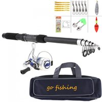 2,1 mt Angelrute Reel Linie Combo Full Kits Spinnrolle Pole Set mit Angelsack Soft Lures Float Hook Swivel Etc
