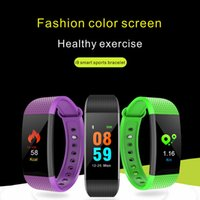 I9 IP68 Waterproof Color Screen Fitness Bracelet Blood Press...