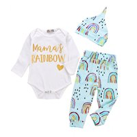 2018 Newborn Baby Sets Infant Toddlers Letters Printing Romp...