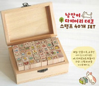 Cute Cat Mini 40 Pieces Shapes Wood Rubber Stamps scrapbooki...