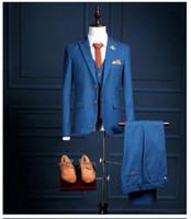 2018 신사 트림에 맞게 사용자 정의 남성의 웨딩 턱시도 4 종 세트 신랑 들러리 사이드 벤트 제일 공식적인 남자 정장 남자는 신랑 턱시도 정장 제작