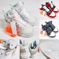 Arrival Off OG Jam Kids Black 1s Sneakers High Quality NUC O...