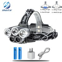 Blue light white USB 5 led headlamp head lamp headlight T6 Q...