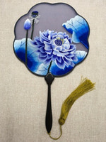 High End Vintage Personalised Hand Fan Traditional Craft Han...
