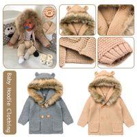 Inverno camisolas elegantes para bebê cardigans outono recém-nascido recém-nascido jaquetas de malha desenhos animados urso crianças manga comprida roupa