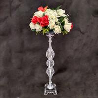 """Уникальный дизайн цветок стойку 65 см / 25.6"""" высокий акриловый стол ВАЗа свадьба центральным событием дороги привести для украшения дома"""