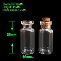 2 ml piccole bottiglie trasparente mini vasi di vetro con tappi di sughero Top-messaggio matrimoni desiderio Del Pendente Dei Monili di Fascini Kit Bomboniere e ricordini