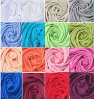 40pcs Pashmina Cashmere Silk Silk Châle Solide Wrap Unisexe Écharpe Foulard pour femmes Echarpe pure 40 couleurs