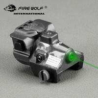 FIRE WOLF Jagdoptik Grüner Punkt-Laser-Anblick Justierbarer Mira Laser Para Pistola für Pistolengewehr
