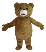 2018 New Ted Costume Teddy Bear Mascot Costume Free Shpping