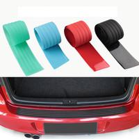 Kauçuk Araba Kapı Eşiği Tampon Koruyucu Gövde Guard Plaka Sticker Arka Tampon Koruma Trim Kapak Şerit Scratch Plaka