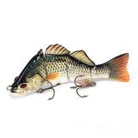 Реалистичные 4 сегмента глубоководная рыбалка бас приманки искусственные жесткие приманки Swimbait 3D реалистичные глаза рыболовные приманки для Agreesive рыбы