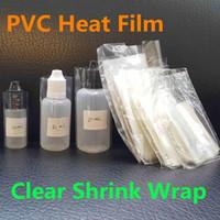 PVC Heat Film E-Liquid Bottles Clear Shrink Wrap Film Sleeve Seals For 5ml 10ml 15ml 20ml 30ml 50ml Eliquid Ejuice Vape Dropper Bottles