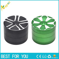 Car Rim Shape Premium Aviation Aluminum Tobacco Herb Grinder...
