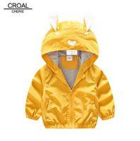 КРОАЛ Чери 80-130 см милый кролик дети мальчики куртка девушки верхняя одежда пальто дети корейский Детская одежда 2018 для девочек осень
