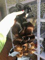 Three Tone Dark Roots Blonde Hair Extensions Virgin Brazilia...