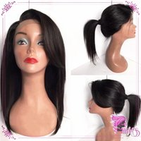 Natural Soft Synthetic Bob Wigs with Side Part Black Straigh...