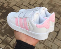 2018 new Brand Shell Head boy girls Sneakers Superstar child...