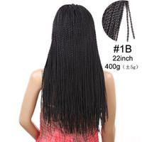 Мода 2X Твист Косички Парик Природа Черные Длинные Синтетические Волосы Парики для Женщин 22 дюймов Beautful Парик