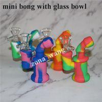 Cachimbas de acero de vidrio Accesorio Accesorio Mini Silicona Boquillas Boquillas Boquilla Pipe Fit Dighty Bobbler Agua Bong con Perc