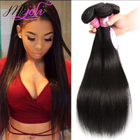 9A Mink Brazillian Straight Human Hair Weave Peruvian Body W...