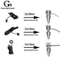 Genuine G9 Greenbrevervapes enail calentador bobina 10 mm 16 mm 20 mm bolsa Ajuste para Mini / Pélic / Tick E-Nail Dabber