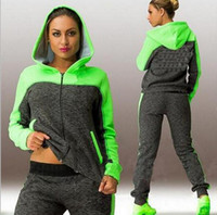 Women' s Sports Suits Two Piece Tracksuit Sportswear Fem...