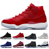 11 11s Cap and Gown Prom Night Zapatillas de baloncesto Platinum Tint Gym Rojo Bred PRM Heiress Barons Concord 45 Platinum Tint mens sports sneakers