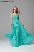 Hot Green Prom Dress One Shoulder Sweetheart Long Chiffon Cr...