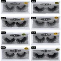 1pair / lot cílios 3D Mink cílios Longa Duração pestanas falsas reutilizável 3D Mink Lashes Lash extensão Make Up falsificados Eye Lashes