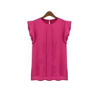 Frauen Blusen Chiffon Kleidung Sommer Dame Bluse Hemd Verkauf Rüschen Kurzarm Tops Bluse