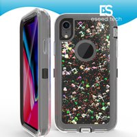 For iphone X Case Flowing Liquid Floating Luxury Bling Glitt...
