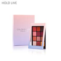 Hold Live 12Color Shimmer Shining Eyeshadow Palette Makeup Set راديانت كريمي ظلال العيون بودرة ظلال العيون الطبيعية