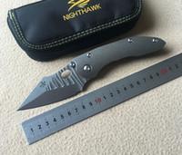 NIGHTHAWK borka Stitch Flipping s35vn lame Couteau pliant Titane poignée Chasse tactique camping en plein air survie Couteaux EDC outil