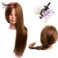 Training Head For 60% real Human Hair Hairdressing Mannequin...