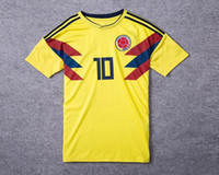 2018 Colombia World Cup Soccer Jerseys shirts Yellow White B...
