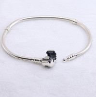 Authentic 925 Sterling silver Bracelets snake chain with log...